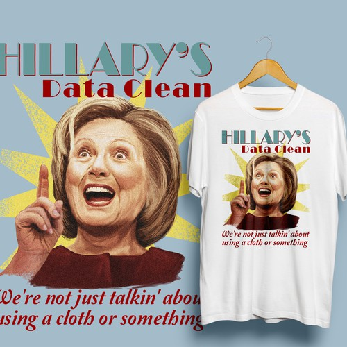 Portrait t-shirt with the title 'another Hillary'