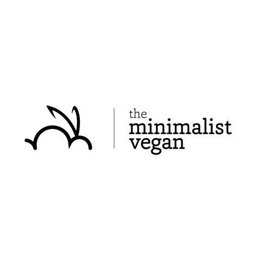 Bunny design with the title 'Create a minimalist logo design...it's all about the typography!'