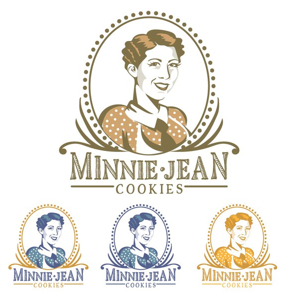 Portrait design with the title 'minnie jean cookies'