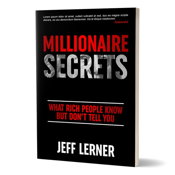 Millionaire design with the title 'Book cover'