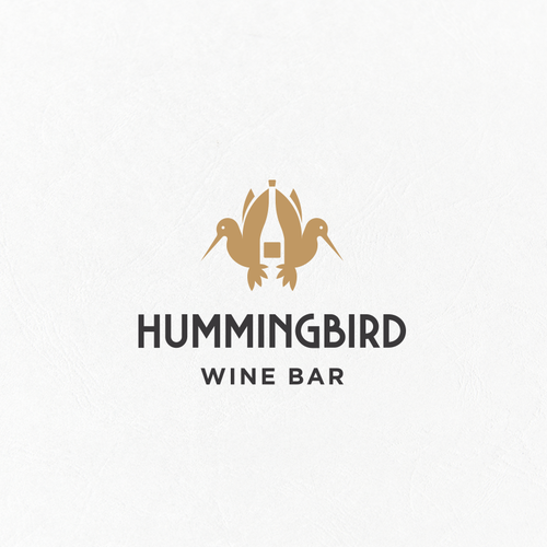 Colibri logo with the title 'Hummingbird Wine Bar Logo'