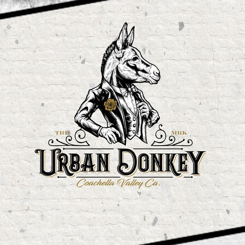 Tattoo logo with the title 'Logo for Urban Donkey'