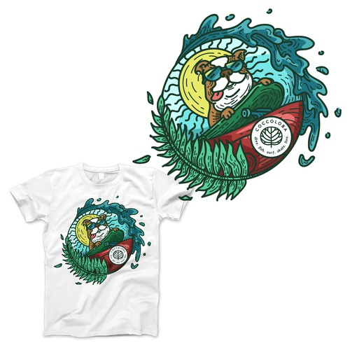 Skate t-shirt with the title 'Shirt Design Concept for a Coccoloba'