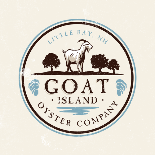 Goat farm logo with the title 'Logo Design for Small New Hampshire Oyster Farm'