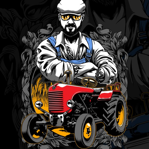 Agriculture t-shirt with the title 'cool farmer'