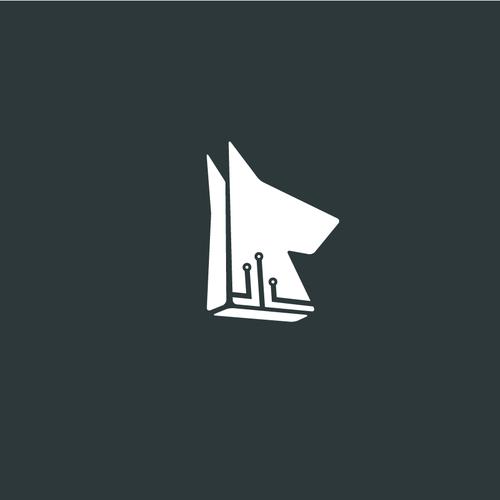 Hound logo with the title 'IR Hound logo'