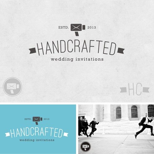Video logo with the title 'New logo wanted for Handcrafted - Wedding Invitations'