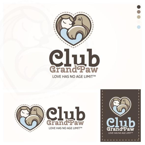 Animal shelter logo with the title 'Logo concept for a senior pet adoption program'