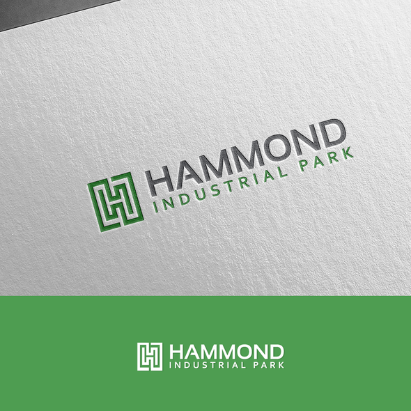 Warehouse design with the title 'Logo Design for Hammond Industrial Park'