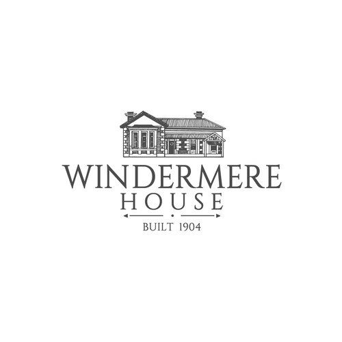 Drawing design with the title 'Windermere House'
