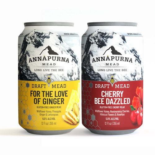 Ginger design with the title 'Labels for Annapurna Mead'