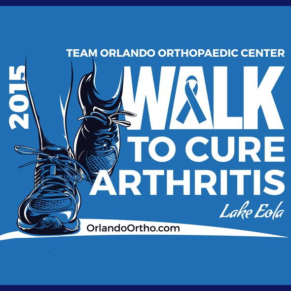 Smile t-shirt with the title 'walk to cure arthritis'