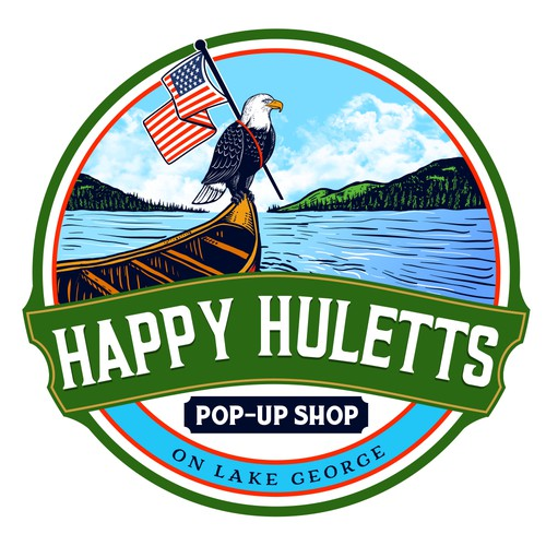 Eagle design with the title 'Happy Huletts'
