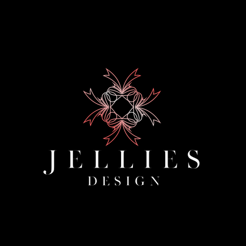 Ribbon brand with the title 'Jellies Design'