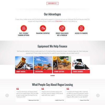 Website Redesign for Rogue Leasing