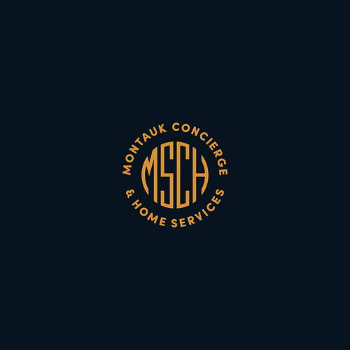 Classic logo with the title 'Logo for Montauk Concierge & Home Services | simple & classic'