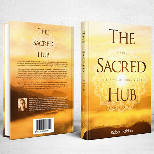 Meditation design with the title 'Book Cover for The Sacred Hub'