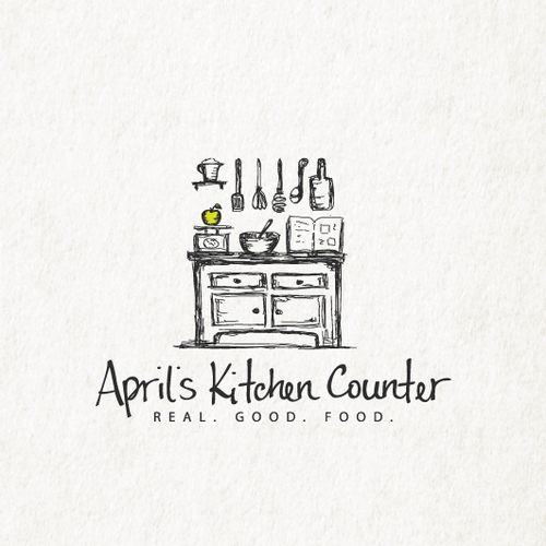 Kitchen logo with the title 'April`s Kitchen Counter'