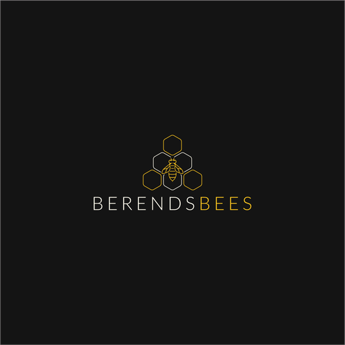 Bee design with the title 'berends bees'