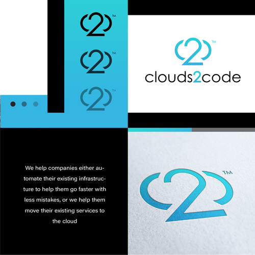 Coding logo with the title 'clouds2code'
