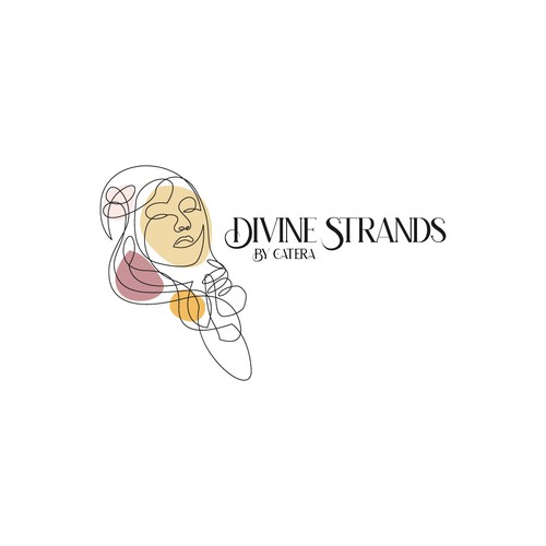 Divine design with the title 'Divine Strands Hair Care Logo'