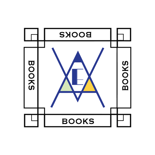 Modern retro design with the title 'Modern art deco logo'