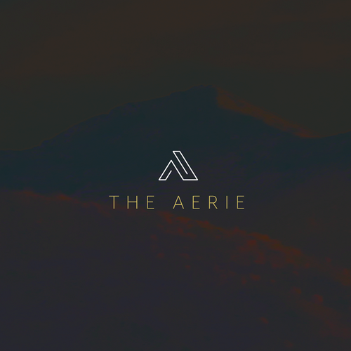 Red wine logo with the title 'The Aerie'