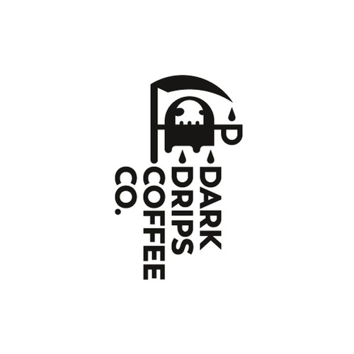 Death logo with the title 'Dark Drips Coffee Co.'