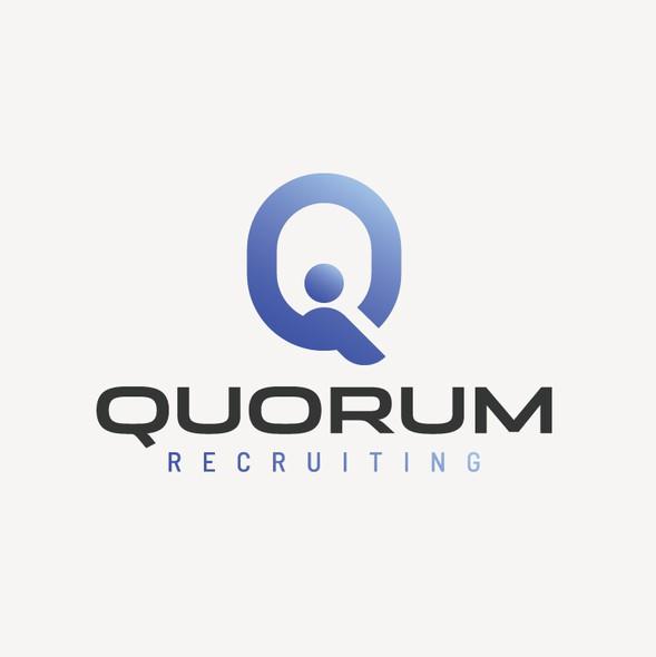 Q design with the title 'Quorum Recruiting Logo'