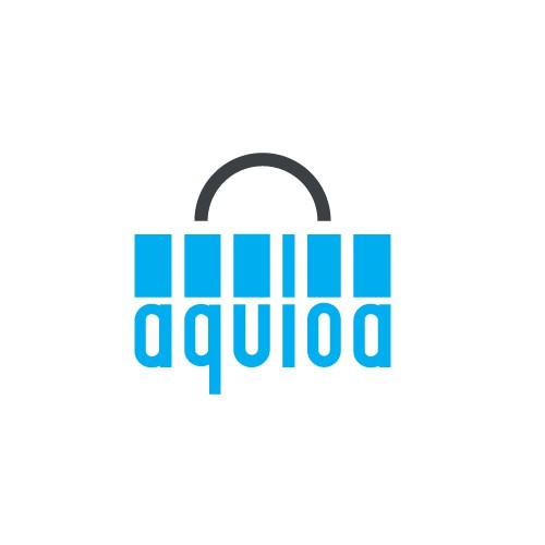 Shopping bag logo with the title 'Aquioa'