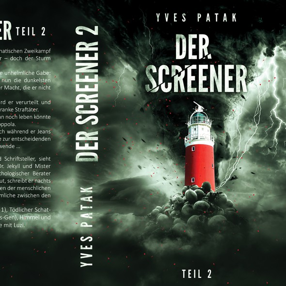 German book cover with the title 'Der Screener'