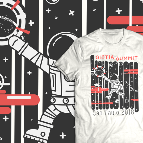 Adventure t-shirt with the title 'Space T-shirt'