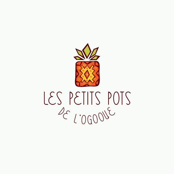 Jam logo with the title 'Les petits pots de l'Ogooue'