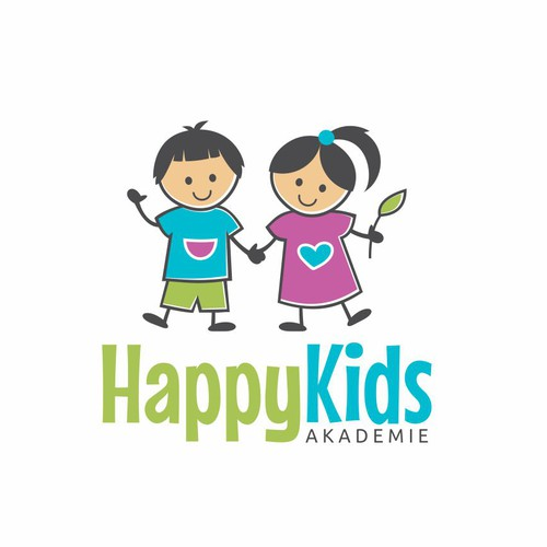 Cute brand with the title 'Happy Kids Academy'