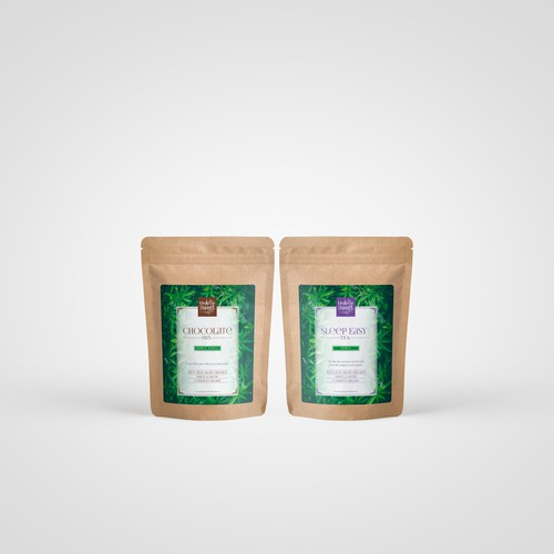 Superfood packaging with the title 'Cannabis Infused Tea and Supplements'