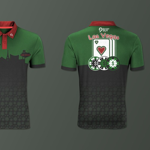 Polo design with the title 'Poker t-shirt '