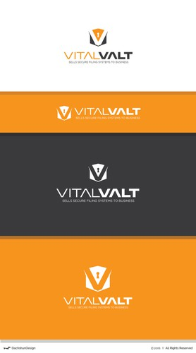 Secure design with the title 'Letter ''V'' logo design'