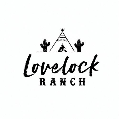 Teepee logo with the title 'Create a Western/boho design for Lovelock Ranch wedding Barn'