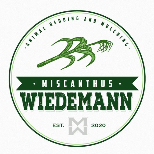 Bedding design with the title 'Miscanthus Wiedemann'