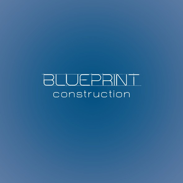 Remodeling logo with the title 'Blueprint Construction Logo'