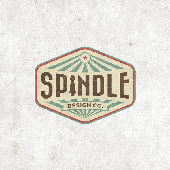 Eclectic design with the title 'Vintage/retro logo for Spindle Design Co. - eclectic interior design firm in Austin, TX'