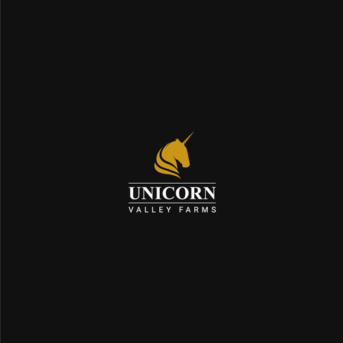 Winner logo with the title 'Bold logo concept for UNICORN Valley Farms'