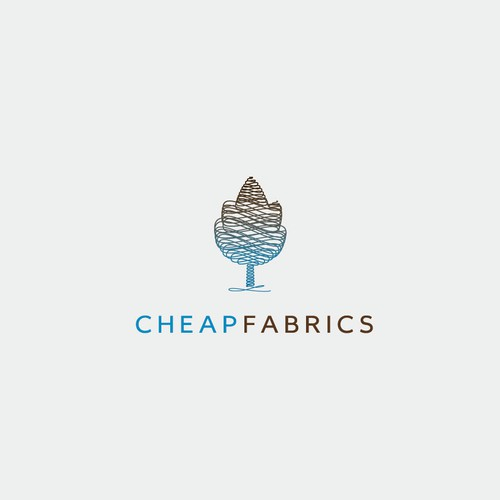 Meaningful logo with the title 'CHEAP FABRICS'