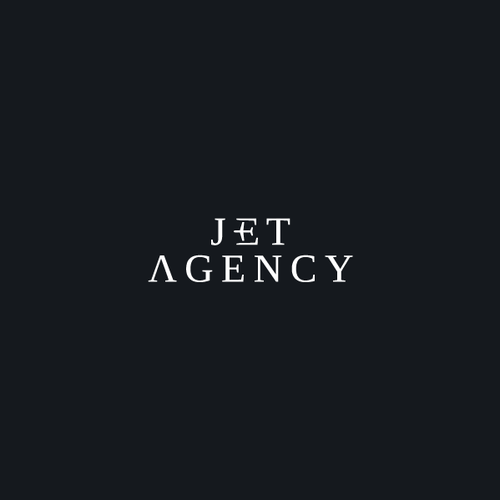 Jet logo with the title 'Logo for Jet Agency'