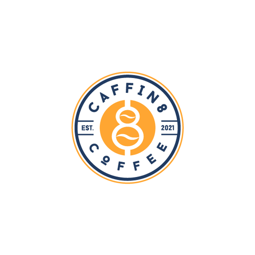 Coffee shop design with the title 'Caffin8 Coffee'