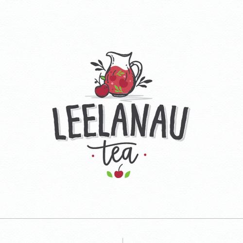 Logo with the title 'leelanau tea'