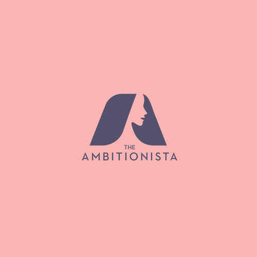 Woman logo with the title 'Logo for the Ambitionista'