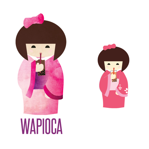 Bubble tea design with the title 'Wapico Bubble Tea'