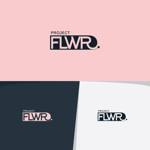 Project brand with the title 'BOLD logo concept for PROJECT FLWR.'