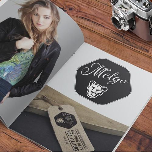Mode design with the title 'Crée un logo pour une marque de blouson féminin en cuir - domaine : Moto'